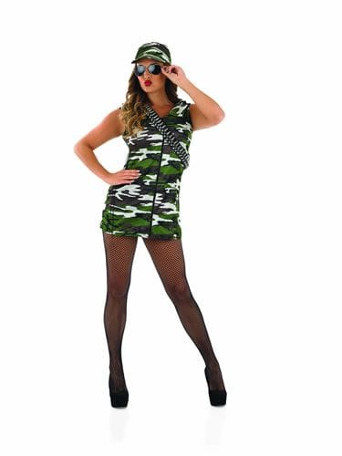 Army Girl Ladies Fancy Dress Costume