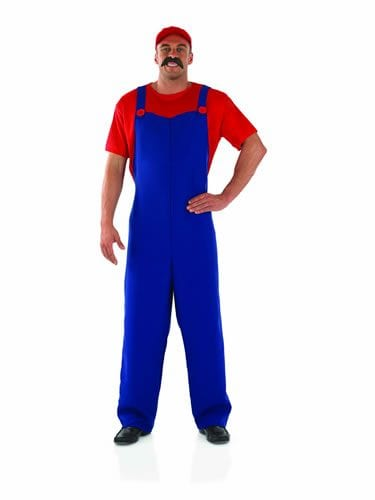 Plumber's Mate Blue/Red (Mario) Mens Fancy Dress Costume