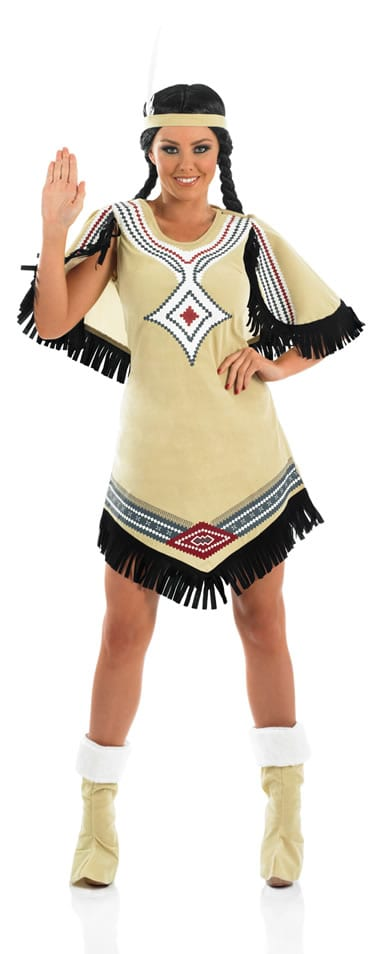 Indian Scout Ladies Fancy Dress Costume