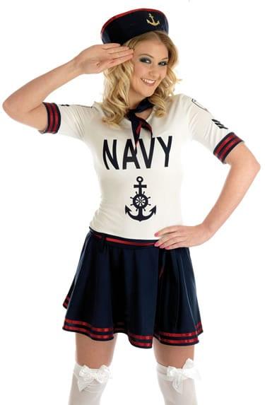 Navy Patrol Girl Ladies Fancy Dress Costume