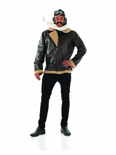 Wartime Fighter Pilot Mens Fancy Dress Costume