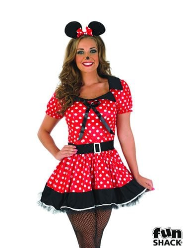 Missy Mouse Red Ladies Fancy Dress Costume
