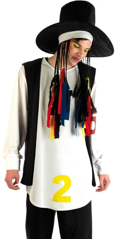 80's Pop Star (Boy George) Men's Fancy Dress Costume