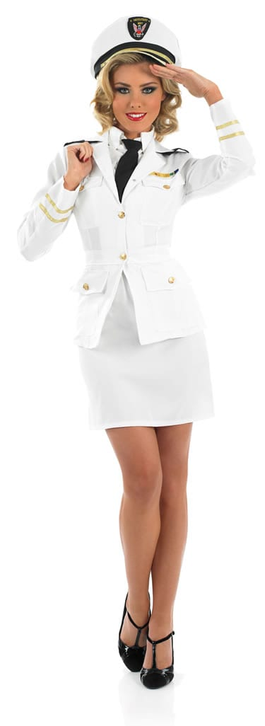 40's Lady Naval Officer Ladies Fancy Dress Costume