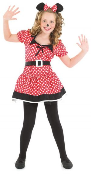 Little Missie Mouse Red Girls Childrens Fancy Dress Costume