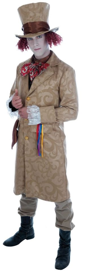 Dickensian Toff (Mad Hatter) Mens Fancy Dress Costume