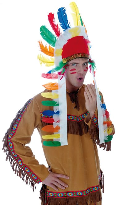 Indian Chief Mens Fancy Dress Costume