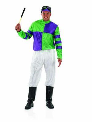 Jockey (Purple/Green) Men's Fancy Dress Costume