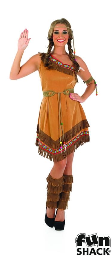 Indian Squaw Ladies Fancy Dress Costume