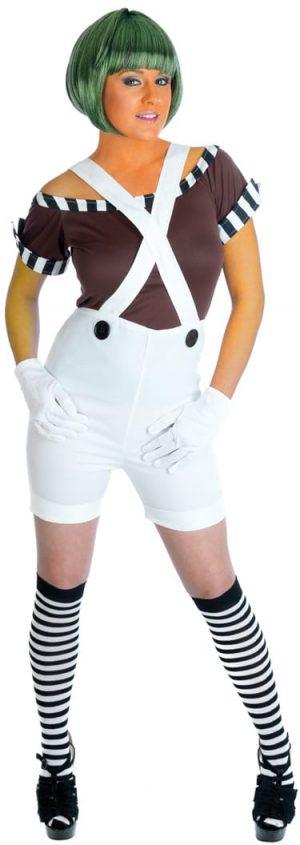 Sexy Chocolate Factory (Umpa Lumpa) Worker Ladies Fancy Dress Costume