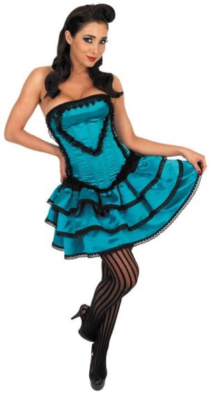 Can Can Dress Ladies Fancy Dress Costume