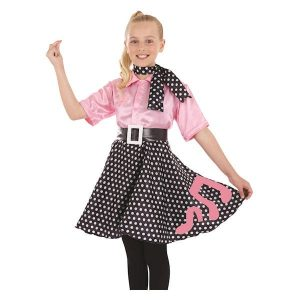 Rock 'N' Roll Dress Children's Fancy Dress Costume