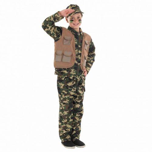 Desert Army Boy Children's Fancy Dress Costume
