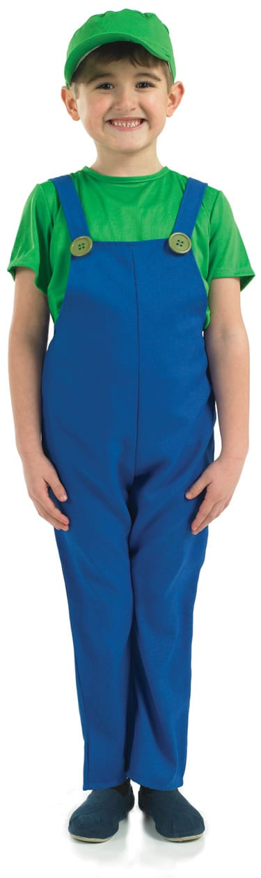 Plumber's Mate (Luigi) Children's Fancy Dress Costume