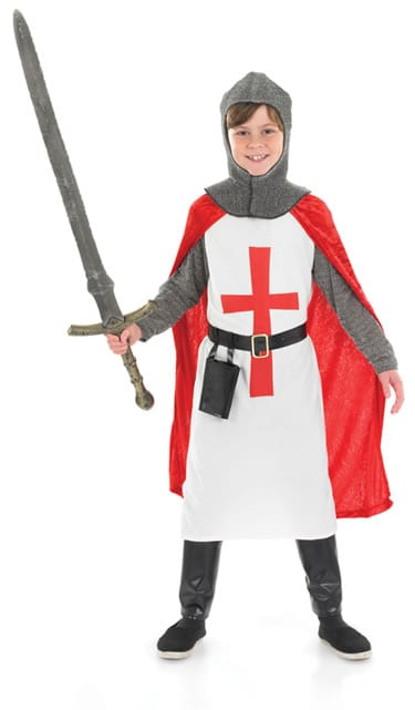 Crusader Knight Children's Fancy Dress Costume