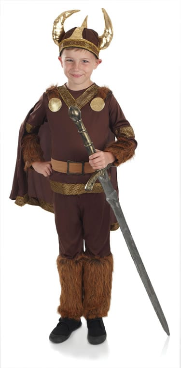 Viking Warrior Boy Children's Fancy Dress Costume
