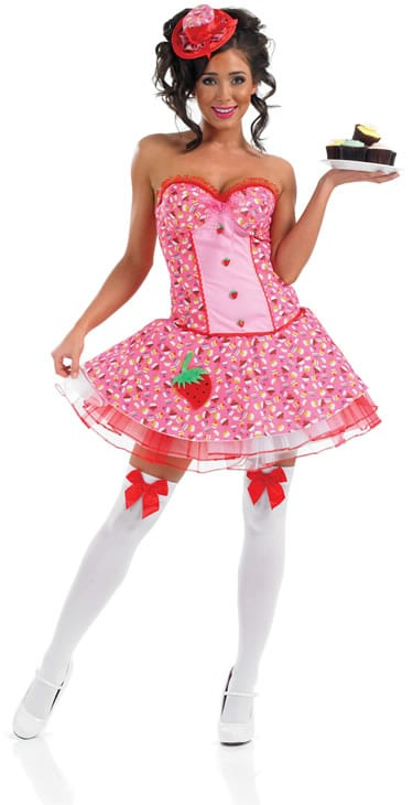 Miss Cup Cake Ladies Fancy Dress Costume