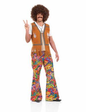 Psychadelic Flares Men's Fancy Dress Costume