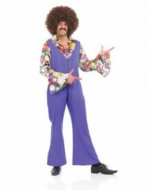 70'S Disco Jumpsuit Men's Fancy Dress Costume