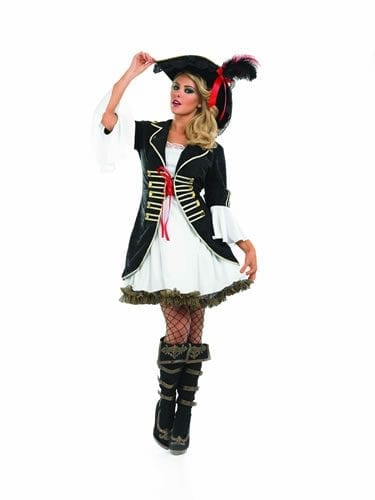 Buccaneer Girl Longer Length Ladies Fancy Dress Costume