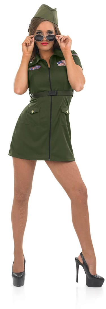 Aviator Girl Ladies Fancy Dress Costume