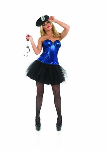 Tutu Cop Ladies Fancy Dress Costume