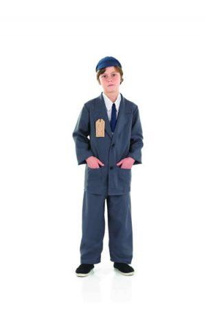 Evacuee Boy Suit Children's Fancy Dress Costume