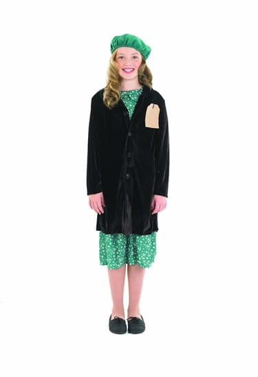Evacuee School Girl Children's Fancy Dress Costume