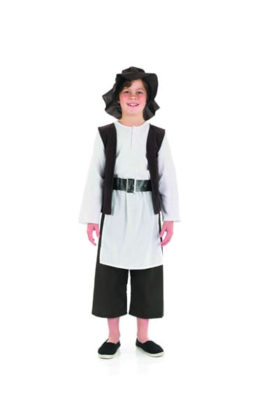 Deluxe Tudor Boy Children's Fancy Dress Costume