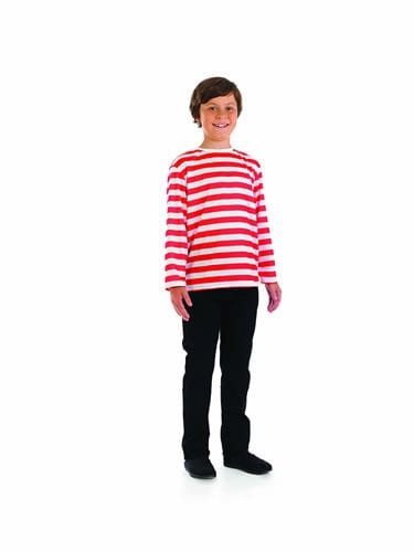 Red/White Jumper (Wally) Children's Fancy Dress Costume