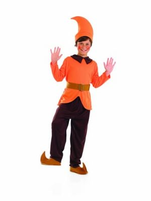 Orange Dwarf Children's Fancy Dress Costume
