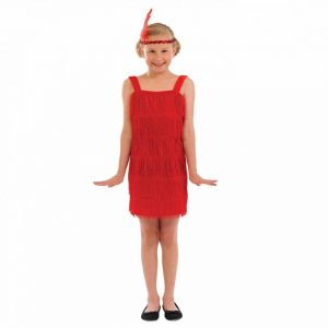 Flapper Dress Red Children's Fancy Dress Costum2e