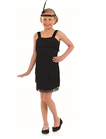 Flapper Dress Black Children's Fancy Dress Costume