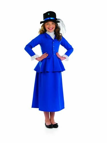 Victorian Dress (Mary Poppins) Children's Fancy Dress Costume