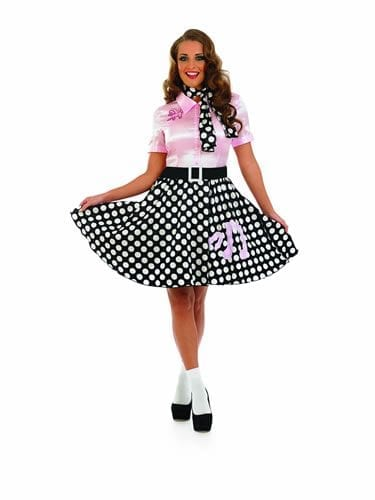 1950's Rock n Roll Dress Ladies Fancy Dress Costume