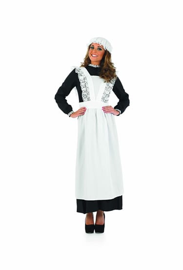 Old Time Maid (Victorian) Ladies Fancy Dress Costume