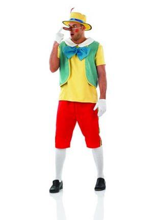 Fairytale Puppet (Pinnochio) Men's Fancy Dress Costume