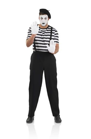Mime Artist Men's Fancy Dress Costume