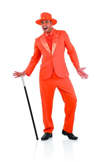 Dumb & Dumber Orange Suit Men's Fancy Dress Costume