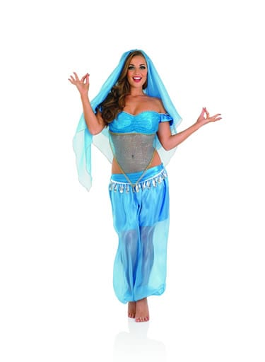 Arabian Princess (Blue) Ladies Fancy Dress Costume