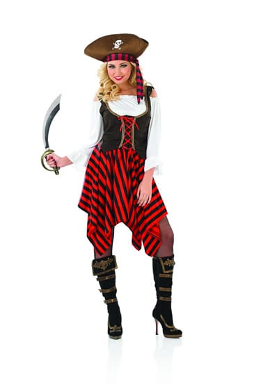 Pirate Girl Ladies Fancy Dress Costume