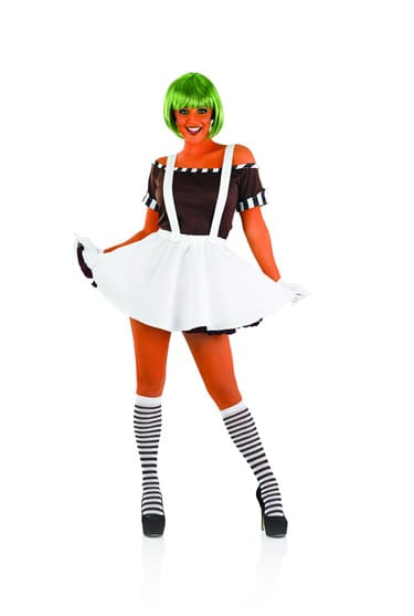 Sexy Factory (Umpa Lumpa) Worker Dress with Wig Ladies Fancy Dress