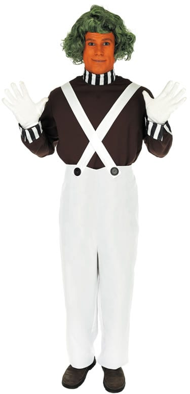 Chocolate Factory Worker (Umpa Lumpa) Mens Fancy Dress Costume