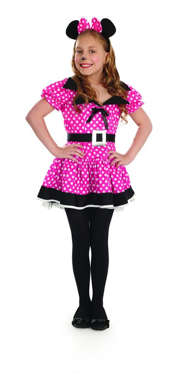 Little Missie Mouse Pink Children's Fancy Dress Costume-0