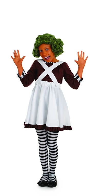 Factory Worker Girl (Umpa Lumpa) Childrens Fancy Dress Costume