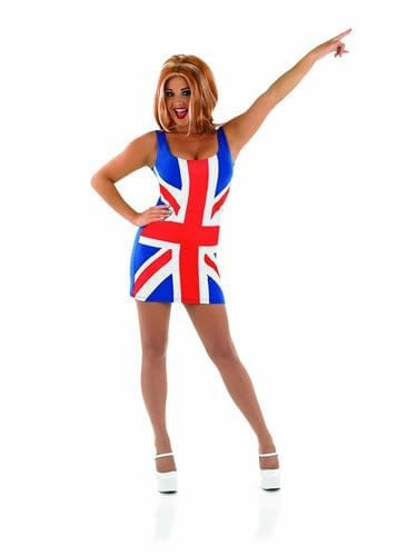 Union Jack (Ginger Power) Ladies Fancy Dress Costume