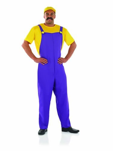 Plumber's Mate Yellow (Wario) Mens Fancy Dress Costume