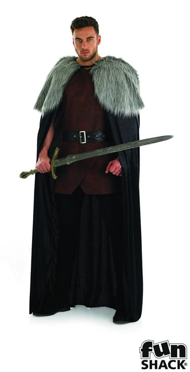 Medieval Cape Men's Fancy Dress Costume