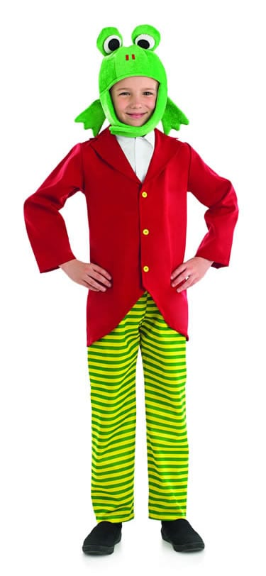 Mr Frog Children's Fancy Dress Costume contains Jacket with Shirt Insert Trousers Headpiece