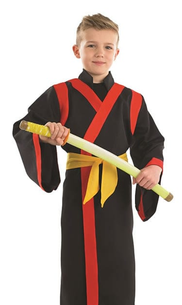 Samurai Boy Children's Fancy Dress Costume